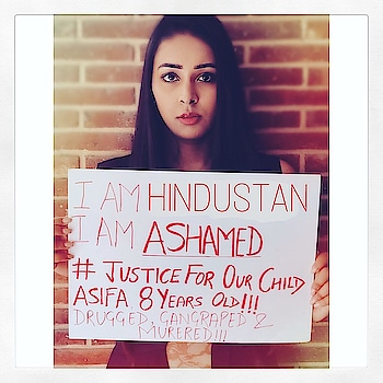 It's so sad that it has to come national outrage for action to be taken!!! What growth & safety are we talking about, if women & specifically little girls are not safe in this country.  Its not about hindu-muslim but being indian. Its about the being a girl giving her justice, its our duty to fight for her!  I am ashamed to be an indian!! Shame on humanity, judiciary system & those people who doesn't care for her just because she is a muslim 🤦🏼‍♀️ . . . . . . . . . . . . . . . . . . . #justiceforasifa #shameless #asifa #thisisnothindustan #unnaorapecase #unnaohorror #ashamed #ashamedofmygovernment #kathua #justice #jammukashmir #thesocialmonk #wewantjustice #punishtheculprits #punishtheculpritspublically #unsafeindia #girlslifeatstake #thecoruscotimes