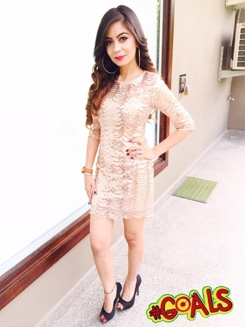 22nd BIRTHDAY ❤️ #roposo #soroposo #roposotalks #glamour #sequins #22 #birthdaydress #love #growing #young #free #beautiful #gold #glitter #sparkle #love #goals #ADWContest Dress - @srstore09 Earrings - Accessorize Heels - @aldoindia