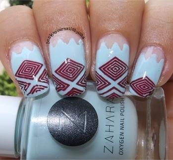 Geometric vibes🔺🔻 #designyournailsbyisha #ishanailart #nailsbyisha #nailblogger #zigzagnails #geometricnails #lightbluenailpolsih #zaharanailpolish #plaidnails #sweaternaildesign #instanails #nailart #nails #roposonails #roposofashion #soroposo #roposoblogger #naildesigsn #nailartblogger IG:design_your_nails_by_isha 💙