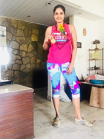 Ran the #juhuhalfmarathon #runner in top 7 of female runners #marathoner