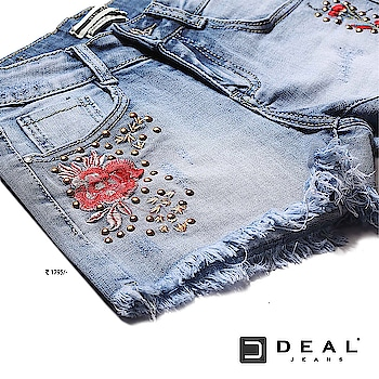 Rock in roses this summer in our state making embroidered denim shorts 🌹 #dealjeans