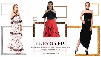 Whether it's a girl's night out or a black-tie gala or a cocktail party, your unparalleled fashion sense is sure to be the talk of the town with our curated Party Edit. Shop now:https://goo.gl/9EVrBt  #partyessentials #thepartyedit #rocknshop