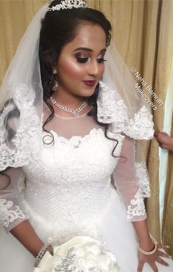 @ Neha Bamrah Makeovers  When you achieve your clients #Bridalgoals on her very special day 😍💄💋Bridal transformation done by Me ❤️ #nehabamrahmakeovers