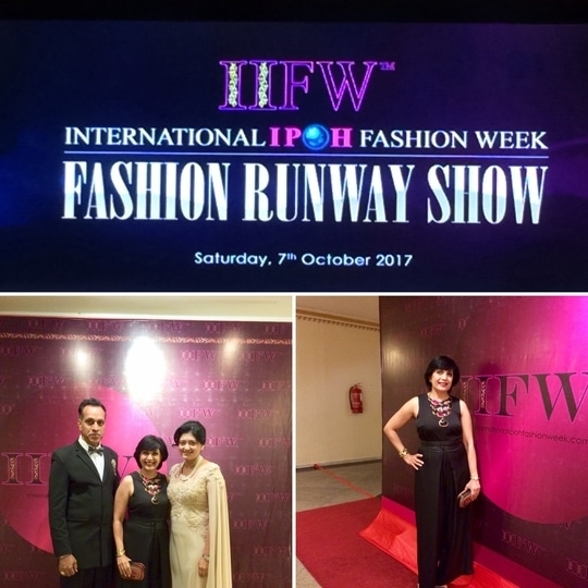 Thankyou Organisers Louis and Adeline for inviting me to attend the #international #ipoh #fashion#week #malaysia #monashroffjewellery # MonaShroff @shroffmons