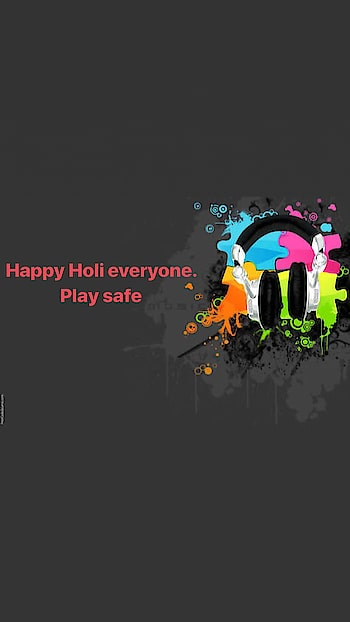 And wishing everyone a #HappyHoli... All the best. #PlaySafe #FestivalOfColors #Holi #Holi2018 #LetsMakeMusic