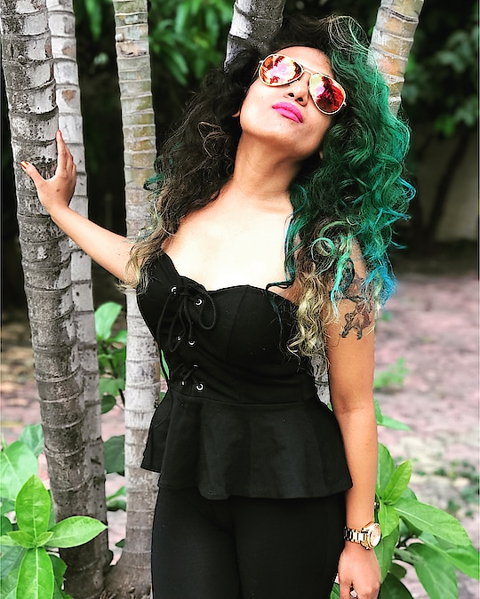 Who Else Love Experimenting with their Look.  #newhaircolor #unconventionalhair #hair-story #hair-style #newlook