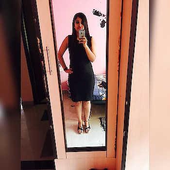 Black is my happy colour!! 😊 #black #happy #formaldress #officewear #favourite #favouritecolour #happiness #officeoffice #blogger #blogging #indianblogger #fashion #style #ootd