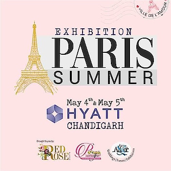 Come, witness designs that have fused the cuts of Paris with the drapes of India. Sat-Sun, 4-5 May, Hyatt Regency, Chandigarh.  #ParisSummer #Hyatt #Fashion #Couture #exhibitionsinchandigarh #eventsinchandigarh #chandigarh #biggesteventofchandigarh #panchkula #mohali #Apparels #Accessories #HomeDecor #Furniture #Artifacts #GardenDecor #Paintings #shopping #handmade #pottery #creativity #decor #craft #handicraft #artcollector #love #amilliondollaraffair #redroseevents