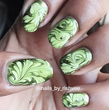 Nailart of the day!! Isn't it looking beautiful?!! Tutorial will be up soon Follow me for more nailart and beauty stuffs