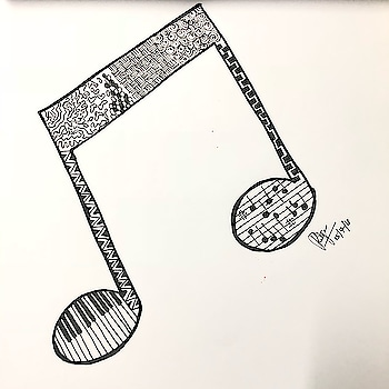 All you need is little music at times..! TeenyWeenyThoughtss #Doodling #Doodle #BeingCreative  #SelfLearning  #DoodleOfInstagram #Doodleist #DoodlingIsFun #DoodleSketch #Thought #LateNight #Sky #PenArt #RandomThoughts #Pizza #DoodleArt #SelfLearner #Music #MusicIsLove