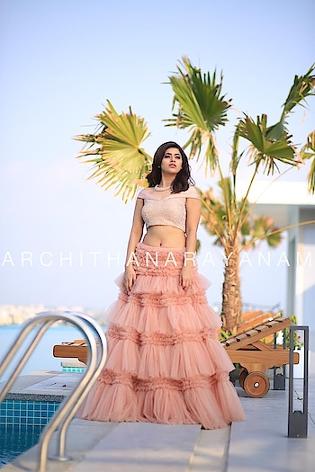 ~Thalassa ~ ~signature lehenga~ ~100 meters and more ~ #archithanarayanamofficial #thalassa #ss19 #fdci #lmifw #indiafashionweek #delhi #festivecollection #bridalcouture #bridestobe #bridemaids #shadesofthesea #vogue #elle #bridesofindia #100meters #signaturestyle @yamini_bhaskar