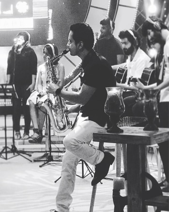 @tseries #mixtape coming soon. Watch out for some soulful #saxophone and a beautiful collaboration 😊 #saxyraghav🎷
