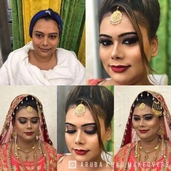 #beforeandafter #beautifulbride #transformation #powerofmakeup #indianbride #highlightingandcontouring #glitteryeyes #perfectbride❤️