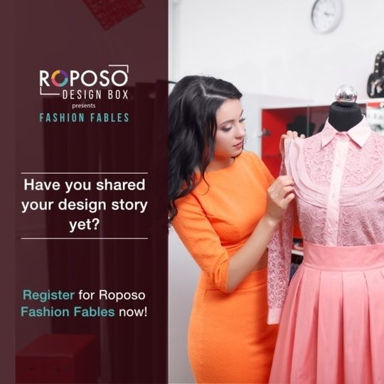 Looking out for Internship? Here is your chance to get one!  Roposo Design Box presents Fashion Fables contest. Every design has a story, tell us yours!  Register for the contest, upload your story, use the #FashionFables and win a chance to intern with one of the panel of judges.  #roposodesignbox #fashionfables #designstory #illustrations #workphotos #designcreations #stylingassignments