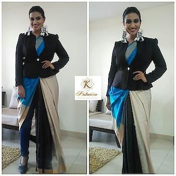#sareeswag  wearing my brand @kalanecauppada saree to host the IMPACT 50 MOST INFLUENTIAL WOMEN 2018 #saree #fashionlover #sari #sarinotsorry #stylediaries #fashionista  #rampwalk #glamour #love