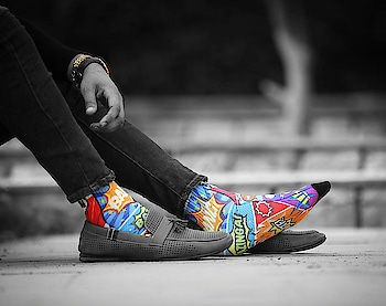 Show up with a bang! And when your feet look so good, you are halfway through already.  #ComicCrash   Thank you @sagarmidda for giving us this beautiful picture of our Comic Crash. 🙌   Up your styling game.  Own your #dynamocks pair today.    #socks #dynamocks #fashion #trend #style #menstyling #2018 #2018socks #newyearsocks #mensfashion #menstyle #mens #photography #fashionstyling #india #trendysocks #fashionsocks #sockswag #sockslove #awesomesocks #socksfetish #socksrock #socklove
