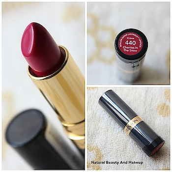 """Hello everyone ☺ a new #review  post is up on the blog #naturalbeautyandmakeup  .TodayI have reviewed the classic #vintage  lipstick shade """"Cherries In The Snow"""" from the brand @revlon 😍😍 You all probably know that it's my favorite #lipstick  so finally I have shared my thought on this ❤ Link is in bio 👆 . . . . . . . .   . .  #lips  #beautyblog  #productreview  #lipstickaddict  #lipsticklove  #roposobeauty  #followme  #makeupblogger  #hkbeautyblogger  #pinklipstick  #redlipstick #beautyblogging #reviewer #productphotography #lipstickjunkie #lipstickoftheday #swatches"""