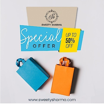 Head on down to www.sweetysharma.com for an exclusive 50% off on all designer clothing! Get yours now !!!