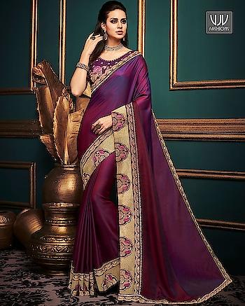 Buy Now @ http://bit.ly/VJV-MOTI10609  Unique Purple Color Fancy Embroidered Designer Saree  Fabric- Fancy Fabric  Product No 👉 VJV-MOTI10609   @ www.vjvfashions.com