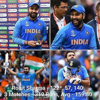 Hitman Rohit Sharma in #CWC19 so far. 2 Hundreds, 2 MoM, 319 Runs.  How many will @rohitsharma45 score this #CricketWorldCup ? . . . #IndvPak #Hitnan #RohitSharma #Rohit #India #Indian 🇮🇳 #NeverStopCreating