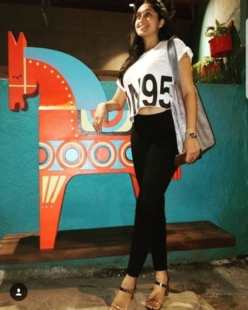 From last night @basantiandco #previewnight. #whatiwore - black jeggings and crop top @onlyindia  Heels @bootmaker_ Grey tote @Hugoboss . . . . #aboutlastnight #outfit #outfitpost #outfitoftheday #outfitideas #casualoutfit #jeggings #croptop #totebag #heels #comfortwear #stylish #classy #fussfree #photooftheday #fashion #fashionph #fashionista #fashionblogger #bewitchingk #mumbaiblog #indianblogger #styling #diva #potd #stylist #mumbai
