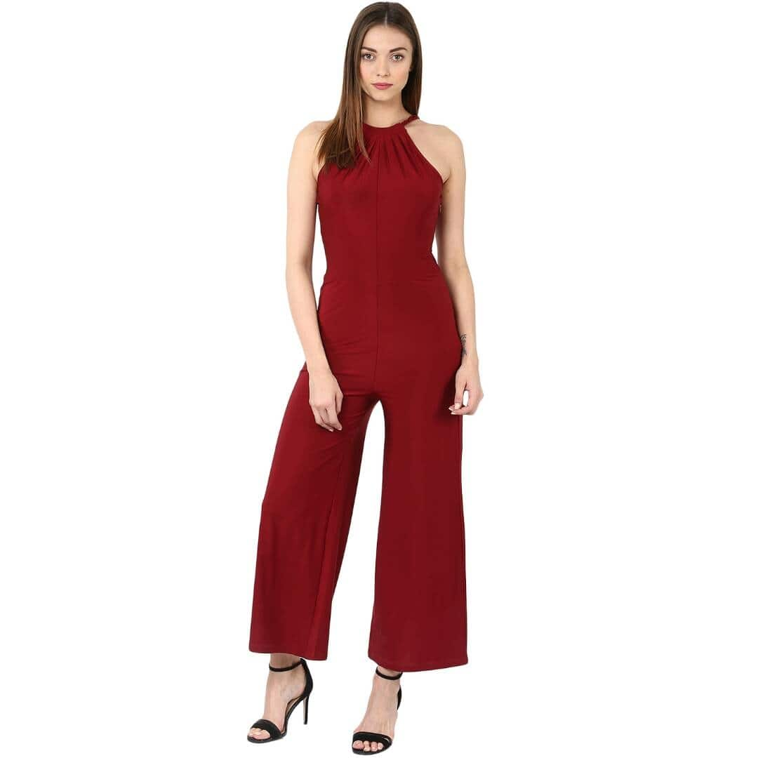 Nouvelle Vague presents this stylesh jumpsuit with maroon colour. As we know about you so we have manufactured this with poly net fabric. Its is light in waight and fill so comfortable. So start enjoying this summer with your stylesh jumpsuit