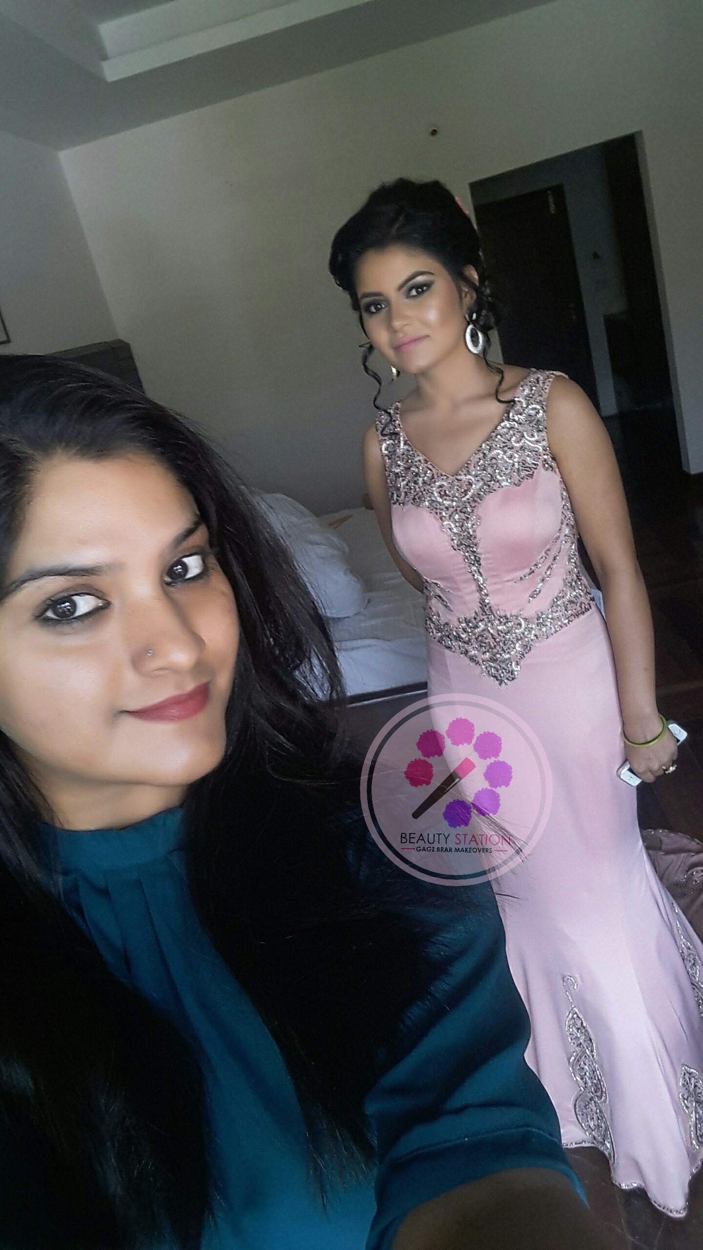 Done #engagement #makeover Dharamshala.(HP) #awesome #weather #lovely #client #beautiful #pink #outfit #shiney #face #black #Smokey #eyes #just #wow 😍  Booking open for 2017 Brides. Flat 30% discount on first 10 Brides anywhere in India. First come first service. Makeup at your doorstep globally. #makeupartist #hairstylist #GagzBrar #gagzbrarmakeovers  +91-7087555656, +91- 9888050866