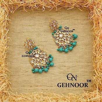 Last but not the least! In our Series of Ferozi Fervour Jewellery, we bring to you the Quintessential Chandbali adorned with Semi Precious Ferozi Pearls of different sizes. 💎 . These Stunners are the perfect Statement Piece for your Rakhi Attire this season! 💚 . www.gehnoor.com 💻 . FREE SHIPPING anywhere in India 🚙 . Cash On Delivery Available across India 💲 . WhatsApp at 07290853733 📱 . www.facebook.com/Gehnoor/ . gehnoor@gmail.com 📝 . #bride #goldjewellery #kundannecklace #traditionaljewellery #wedding #destinationwedding #indianbride #bridechilla #photooftheday #instabride #bridalwear #bridaljewellery #tags #like #likeforlike #followfollow #followus #followback #gehnoor #earrings #chandbali #kundan #meenakari #meenakarijewellery #Colourfest #ColourMeGehnoor #ferozi #feroza