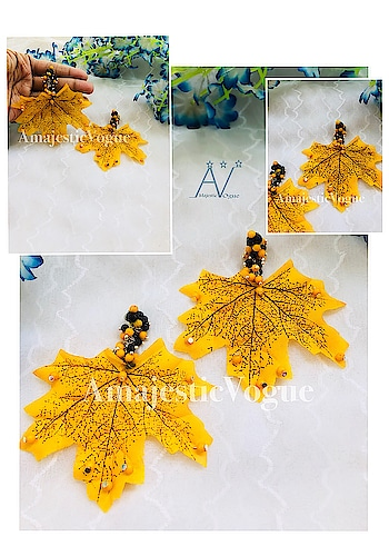 Get these Maple Earrings🍁 from my brand @amajesticvogue  #AmajesticVogue . Get it for yourself #limitedstock #ordernow ✔️ #Inbox or Whatsapp 7044966220 us to give order ✔️ . #jewllerygram #designer #jewellerylove #designerbag #weardifferent #bloggerstore #brand #handmadejewelry #handmade #grabit #stylish #different #chic #likes #likesforlikes #trend #jewelleryaddict #bohojewelry #beads #statement #stylish #mapleleaves #mapleearing #stylish #statementearrings