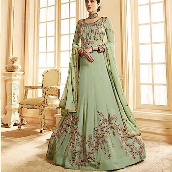 Dull Green Georgette Anarkali Suit  Product code - FCSS1930 Available at www.fashionclozet.com  Watsapp - +91 9930777376 Email -  info@fashionclozet.com Or DM for enquiries. #indianwear #indianfashion #indianwedding #instagram #adorable #beautiful #bollywood #makeup #mumbai #indianstyle #palazzo #punjabisuits #indowestern #bridalsarees #palazzopants #designerwear #saree #punjabiweddings  ##palazzoskirt #blogger #fashionblogger #weddingphotography #vancouverwedding #weddingphotographer #indianweddingbuzz #bridallehengas  #bridesmaids  #saree #gharara