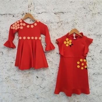 Let your little one look as cute as a button in our new red dresses. ❤️ #red #dresses #cutekids #cute #cutesy #littleones #littleangels #littlefashionistas #kidscollection #kidsofinstagram #kidswear #bellsleeves #flowers #floral #kidslove #kidsfashion #kidsclothes #trending #prettygirls #littlebaby #littlegirl #fashion #potd #ootd #shopnow #shopaholic #riddhiandrevika