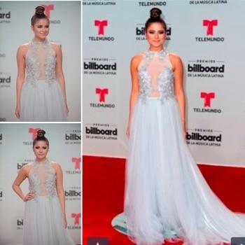 #mexican #popstar #SofiaReyes wearing #monashroffjewellery #monashroff #billboardlatinawards #miami #redcapet2017