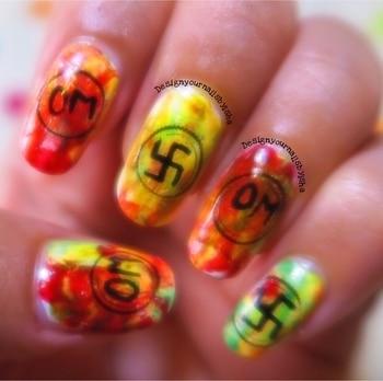 HAPPY RAMNAVAMI!! JAI SHREE RAM  #ramnavaminails2017 #lovenailartindia #ramnavaminsilart #nailpromote #nails #nailitdaily #differentdimension #naildesigns #💅🏼#art #artlover #smooshynails #omnailart #shubhnailart #designyournailsbyisha #ishanailart #nailartlover #nailartblogger #youtuber #roposonails #instanails