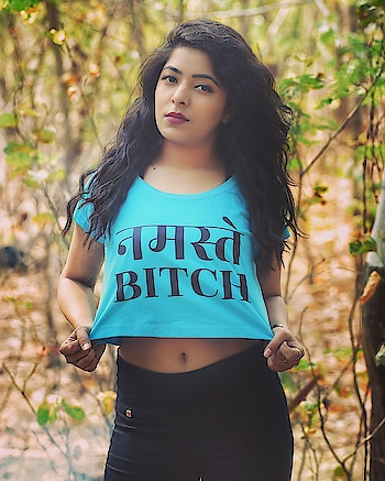 Namastey bitch.. Keep your heel,  head and standard high 🤷🏻♀️  HAPPY WOMEN'S DAY !!  In the picture: @mrinalkhare Awesome Photographer: @thevisualtwist   #crop #croptop #bazarville #photooftheday #photography #photoshoot #photographer #photos #model #modelshoot #outdoorphotography #indianmodel #indianmodels #indianphotography #fashion #fashionbrand #fashionblogger #indianfashionblogger #indianfashion
