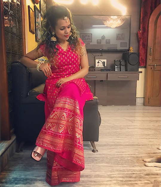 #roposodiwali #roposodiwalicontest #roposodiwali2018 #diwalilook #indianoutfit   Outfit #globaldesi