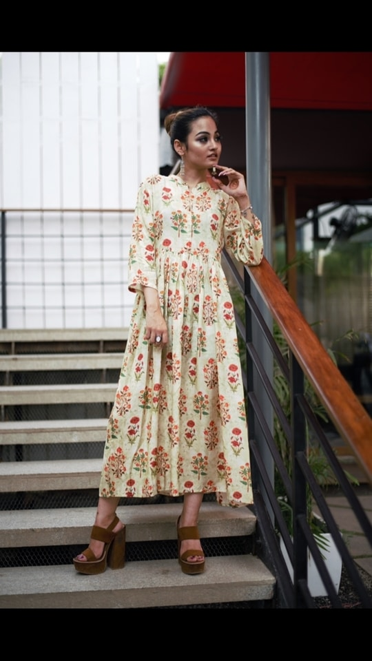 'Fashion fades, style is eternal'- Yves Saint Laurent • On @kashvichauhan : Floral Maxi Dress- To place your order send us a whatsapp at: 9717250047 or email at: lovechicclothing@gmail.com or comment below • #limitededition because it is made with #love for the #chic in you #lovechic #lovechicclothing #streetwear #streetchic #streetstyle #streetfashion #fashionbloggerdelhi #fashionpost #soroposo