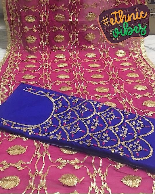 Chanderi Silk Hand Embroidered Gotta Patti Suit Product code - FCDM225 Available at www.fashionclozet.com  Watsapp - +91 9930777376 Email -  info@fashionclozet.com Or DM for enquiries.  #dressdifferent #ethinicwear #loveethnic #shopping #instafashion #sarees #purepunjabi #canada #amarica #usa #europe #sikhcouple #australia #singapore #malaysia #spain #german #newzeland #couplescostume #patailashahi #phulkari #daljitdosanjh #jattlife #sardar #cars #thuglife #patiala #pagg #singh #beard #ethnicvibes