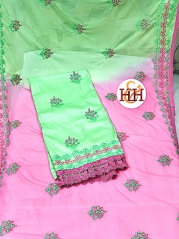 *H&H*🌸 New Launch  Beautiful embroidery Glacé cotton  with Daman work & lace   Chiffon dual shade embroidered Duppatta with side borders   Cotton bottom  *Price : 725/- + Shipping Charges Extra*  Get ready for Pre-Ramadan & Summer Shopping  Wholesaler, Boutique Owner, Shop Owner, Stockist contact on +919987328671 for bulk order   #salwarsuit #Summer  #H&Hbrand #Riyyaahfashion #Mumbai #shoptillyoudrop #dualshade #singapore #malasiya #canada #gulf #Dubai #qatar #kuwait #southafrica #Zambia #Kinsasha #congo #worldwide #india #whatsapp #9987328671 #manufacturer  To place order whatsapp product image (That  you wish to order)   https://api.whatsapp.com/send?phone=919987328671  Note: No Return no Exchange  https://www.facebook.com/riyyaahfashion/
