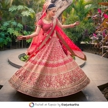 Make more space in your wedding wardrobe because 'tis the season for a lush red #Lehenga. Share your #LehengaLife with us using the hashtag and win a chance to get featured!  #SoRoposo #Roposo