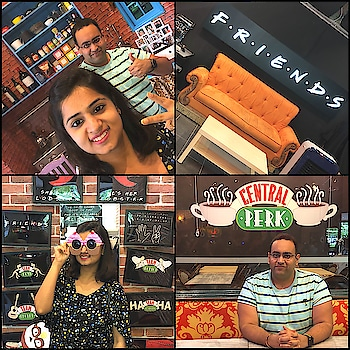 When we visited F.R.I.E.N.D.S cafe ☺️☺️☺️ #coffeecafe #cafe #fun #enjoy #designyournailsbyisha #weekendfun #soroposo #roposoblogger #nailblogger #bblogger #youtuber #friendscafe #friendsseries #tvseries #happy #lifestyle