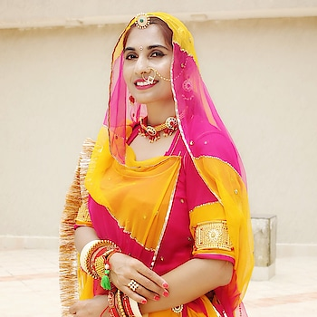 """Rajputi Poshak is incomplete without the jewellery. You will never feel overdressed in #Rajasthan. There is nothing like """"too much"""" jewellery!   I hope you all have seen my dance video in this attire. If not, then please do! Link - youtu.be/Ff_KB8W7Clk  #EthnicFashion #Ghoomar"""