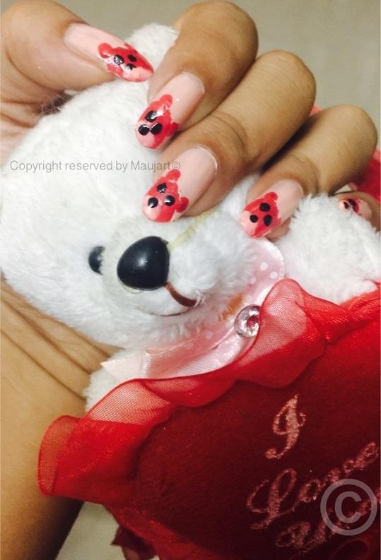 BeAr 🐻 in Red #nail #nailart #nail art #nails #nailaddict #nail-addict #nailfashion #nail-designs #nailsofinstagram #naildesign