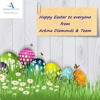 Happy and Delightful Easter to Everyone From Arkina Diamonds and Team #arkinadiamonds #happyeaster