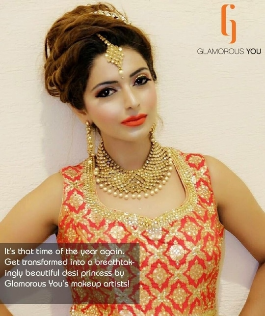 The #wedding bells are tolling! Avail of bridal makeup services by Glamorous You now. Call +91 96431 76851 for packages.