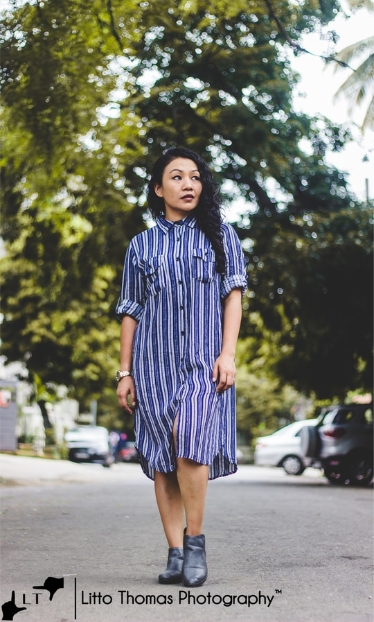 Nautical stripes + T shirt Dress = Nothing more to Ask for ..♥️