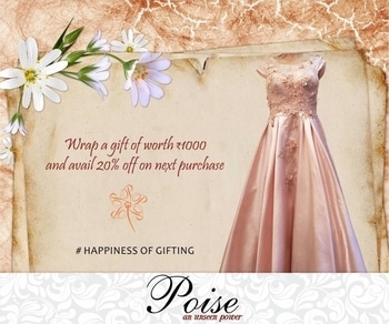 This Diwali spread the happiness of gifting by pampering her with outfits from Poise.  #happinessofgifting #diwali #festivities #celebrations #glamour #pink #gowns #westernwear #indowestern #poise #fashionandstyle