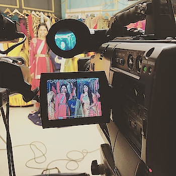 Today's scene at the store! #archithanarayanamofficial #shootscenes #ugadi #festivities #traditional #love #lehengas #halfsarees #perfect #colours #indowestern #fashion #trends