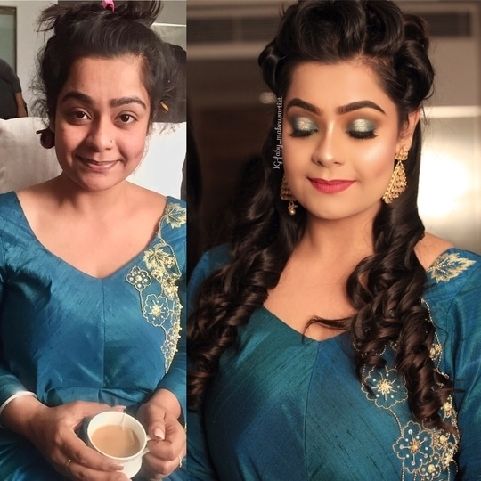 #makeupbyme Party makeup on my beautiful client Richa  For Bridal bookings call on 08052400000 #makeup #makeupartist #brides #bridetobe #weddingoutfit #weddingmakeup #happyclient #makeupblogger