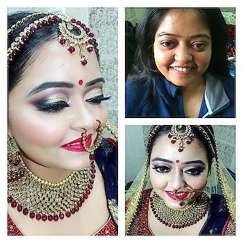 #bridalmakeup #makeupartistindia #makeupartistsworldwide #indianbride #indianjewellery #traditionalclothing #maccosmetics #maclove #anastasiabeverlyhills #highlight #contour #rubywoo #glittereyes #smokyeyes #lovemyjob #❤️