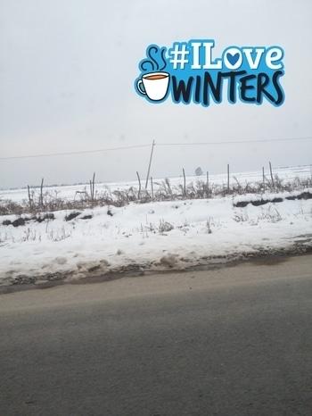I hate cold but love snow #ilovewinters